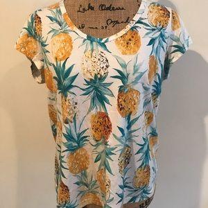Tropical pineapple shirt